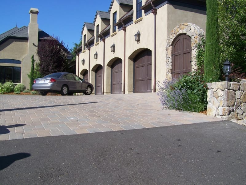 Pavers Installed Driveway - Napa California