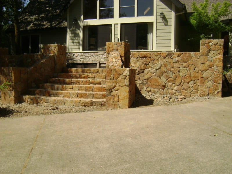 Custom Stone Work Walls - Pillars and Steps - Sonoma County, Sebastopol California