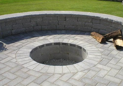 In Ground Fire Pit Built With Pavers