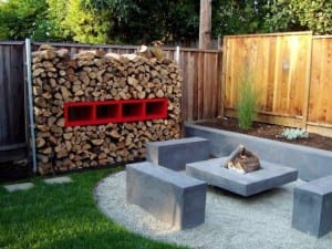 Concrete Fire Pit Benches - Northern California