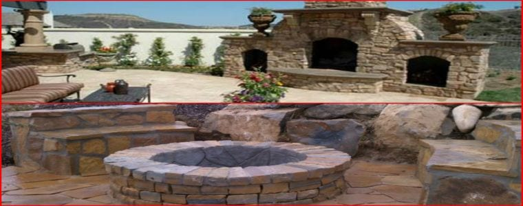 Fire Pit vs Outdoor Fireplace Installation - California
