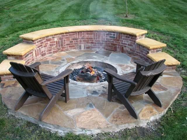 12 fire pit designs for your backyard its personality. Black Bedroom Furniture Sets. Home Design Ideas