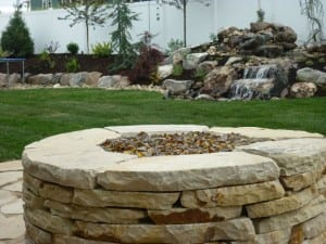 Drystack - Flagstone - Fire pit - ChrisJensenLandscaping1-wordpress-com
