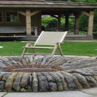 Flagstone Fire Pit Design