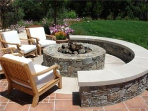Natural Stone Fire Pit - Douglas-landscape-construction