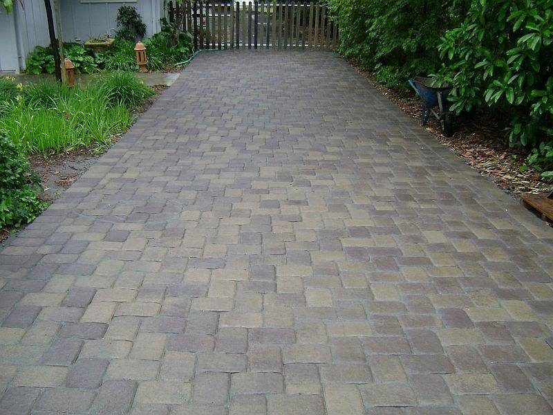 Finished Interlocking Pavers Driveway Installation Installation Sonoma County